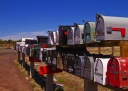 navajo's mail boxes in full desert, Arizona